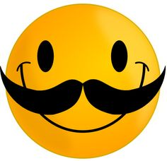 Funny Cute Smiley Pink | Smile with Mustache clip art