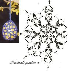 Tina s handicraft gadget – Artofit Crochet Cozy, Crochet Motif, Holiday Ornaments, Holiday Crafts, Homemade Easter Baskets, Peacock Crochet, Stitch Box, Crochet Stone, Easter Crochet Patterns