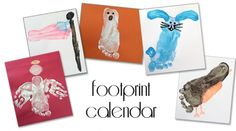 Footprint calendar {101 Days of Christmas} | Life Your Way-- Great Christmas gift for grandparents!