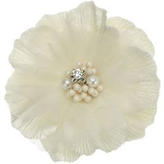 Accessorize Pearl Detail Occasion Flower ($7.99) ❤ liked on Polyvore featuring accessories, hair accessories, flowers, fillers, hair, cream, holiday hair accessories, flower hair accessories, flower corsage and beaded hair accessories