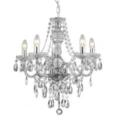 8885-5CL Marie Therese 5 Light Chandelier Polished Chrome