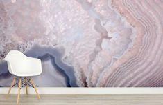 Purple Marble Wallpaper Bedroom 69 Ideas For 2019 Feature Wall Bedroom, Purple Marble, Decoration Inspiration, Crystal Wall, Wall Murals, Wallpaper Murals, Bedroom Wallpaper, Rose Quartz, Quartz Crystal