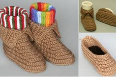 Crocheted Soccasins Pattern   Video