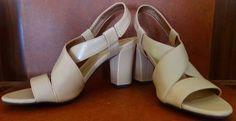 Life Stride Nude Beige Sandals Shoes Heels Size 7 Narrow #LifeStride #Slingbacks #Casual