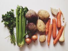 beet soup Beet Soup, Greens Recipe, Beets, Asparagus, Carrots, Sausage, Vegetables, Food, Beetroot Soup