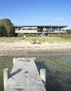 Modern Beach House by Cary Tamarkin. The inside is even more awesome. My perfect home. #beach #house #modern