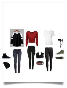 """""""Daily Outfits"""" by ssundelover ❤ liked on Polyvore featuring beauty, Topshop, Dolce&Gabbana, Paige Denim, H&M, R13, DIONISO, Converse, Supra and Skullcandy"""