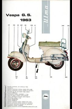ulma accessories for vespa gs Scooters Vespa, Lambretta Scooter, Motor Scooters, Vespa Vintage, Vintage Italy, Triumph Motorcycles, Vintage Motorcycles, Vespa Excel, Ducati