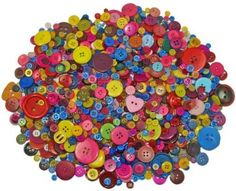 Confezioni di bottoni assortiti, 1000 g