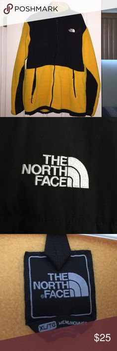 Mens The North Face Jacket Yellow and Black, Size XL, fair condition. The North Face Jackets & Coats