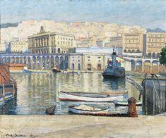 Peinture Port d'Alger - Vue de l'amirauté dans le port d'Alger von Paul Elie Dubois