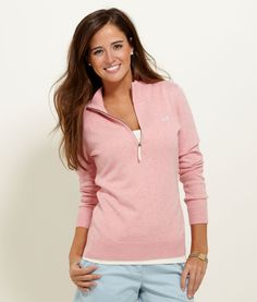 Pull Over 1/4 Zip Sweater Vineyard Vines