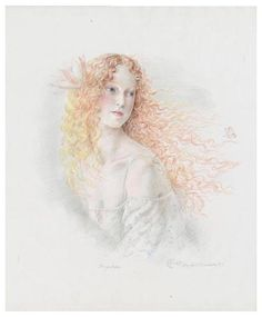 The Art of Kinuko Y. Craft  Psyche, Graphite and color Pencil on Arches