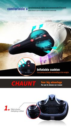 Silicone Cycling Bicycle Bike Saddle Breathable Gel Cushion Pad Seat Cover Amid