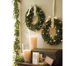 Lit Boxwood Wreath | Pottery Barn