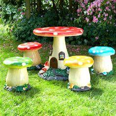 Brundle Mushroom Kids Furniture Set on Sale | Fast Delivery | Greenfingers.com