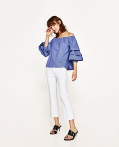ZARA - WOMAN - CROPPED FLARED TROUSERS