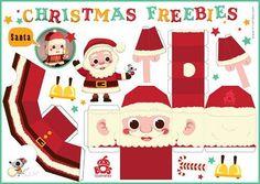Santa Claus Free Printable DIY Christmas Paper Crafts     #diy #paper #crafts #xmas