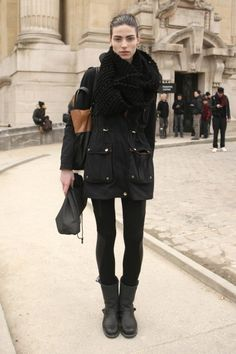 Street Style Snaps At Paris Fashion Week Fall 2013 / Photo by Anthea Simms