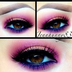 Pink and purple eye makeup #vibrant #smokey #bold #eye #makeup #eyes