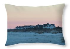 Beach Throw Pillow featuring the photograph Beach Houses by Cynthia Guinn