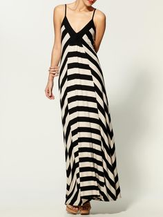 Liberty Stripe Maxi Dress - by Ella Moss.