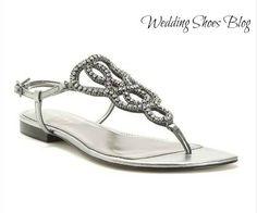 Silver Beaded Wedding Sandals For A Destination Http Www Weddingshoesblog