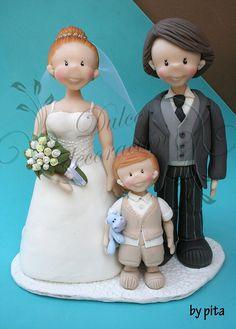Novios personalizados Arantxa by Dulce decoración (modelado - tartas decoradas), via Flickr