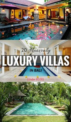 There's nothing like a cheap Bali holiday to get away, relax and unwind without feeling guilty about spending. Luckily, you can also live like a king or queen in luxury accommodation for less than 100 bucks a night. Here are 20 heavenly luxury Bali villas Ubud, Vacation Destinations, Dream Vacations, Vacation Spots, Best Cheap Holiday Destinations, Italy Vacation, Bali Travel Guide, Asia Travel, Croatia Travel