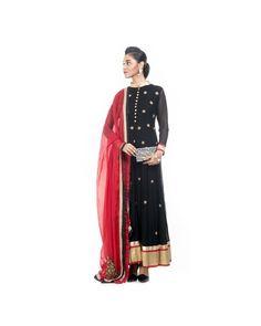 e7a3ead104 Black Anarkali Suit Set - Buy designer anarkali dress online from Popickle  at best price.