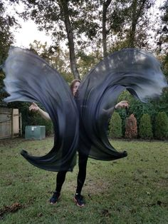 Sahariah's Silk Belly Dance Veil Poi Voi Set 2 Poi Veils and Set of Black Cords Flow Arts Veil Poi Set Spooky Goth Couple Cases, Burning Man Outfits, Flow Arts, Color Guard, First They Came, Belly Dance, Color Combos, No Time For Me, Veil