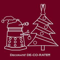 """A Very Dalek Christmas - Dark"" T-Shirts & Hoodies by NevermoreShirts | RedBubble"