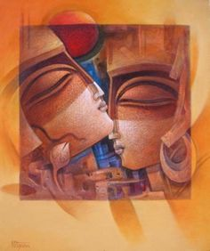Nityam Singha Roy Krishna Art, Lord Krishna, Indian Drawing, Art Visage, India Art, Indian Art Paintings, Fantasy Images, Gods And Goddesses, Black Art