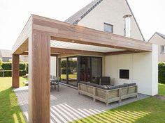 Pergola To House Attachment Product Pergola With Roof, Outdoor Pergola, Outdoor Rooms, Outdoor Gardens, Backyard Patio Designs, Pergola Designs, Backyard Landscaping, Pergola Ideas, Casa Patio
