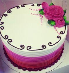 Buttercream Birthday Cake, Buttercream Cake Designs, Fall Cakes, Summer Cakes, Round Birthday Cakes, Sheet Cake Designs, Bolo Floral, Cupcake Cakes, Cupcakes