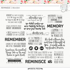 Reminisce : Word Art