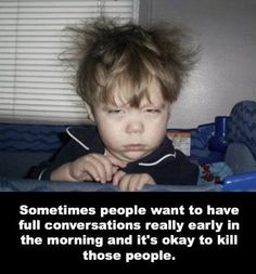 I'm not a morning person. I only do perky when I've had a terrifying amount of coffee.