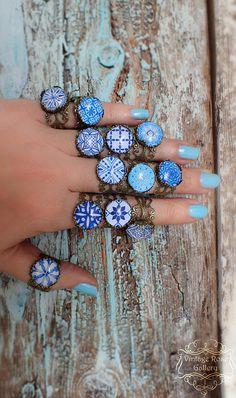 Items similar to Blue Boho Ring , Blue Hippie Bohemian Ring , Mediterranean Boho Ring, Blue Ceramic Bronze Ring, Ibiza Ring by VintageRoseGallery on Etsy Stylish Jewelry, Boho Jewelry, Jewelry Gifts, Etsy Jewelry, Jewellery, Luxury Jewelry, Bohemian Rings, Hippie Bohemian, Bohemian Fashion