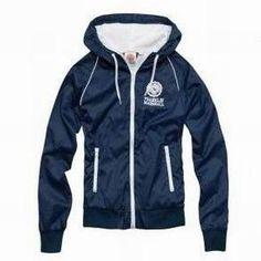 Franklin & Marshall Women Hoodie Jacket All Navy