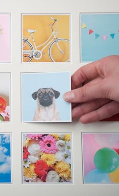 wooden wall frame is magnetic allowing you to switch the little photo magnets