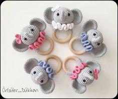 Samyelinin Örgüleri: Elephant Rattle / Teerher (Free English Pattern) Crochet Lovey Free Pattern, Crochet Amigurumi Free Patterns, Crochet Animal Patterns, Crochet Geek, Crochet Baby Toys, Crochet Teddy, Crochet Bunny, Amigurumi Elephant, Elephant Applique