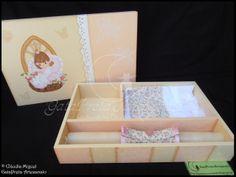 caixa batizado -cor pêssego