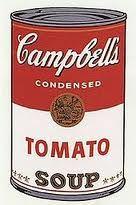 1962  El apoyo de Campbell's Soup Cans en temas de cultura popular ayudó al arte pop a instalarse como un movimiento artístico de trascendencia.