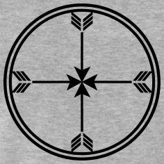 Sioux medicine wheel, arrows Spirit, enlightenment T-Shirts