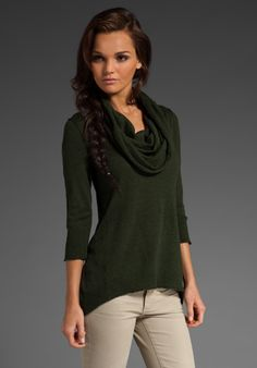 Love the draped cowl neck!