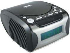 naxa - digital alarm clock radio & cd player