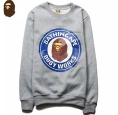 BAPE Busy Works Sweatshirt Sweathsirts come with all BAPE tags and bags. Very comfortable o-neck fit. Material: Premium Cotton