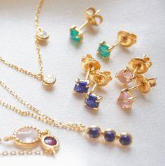 Rose Quartz Gemstone Stud Earrings