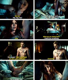 Clary and Jace. Mortal Instruments Funny, Shadowhunters The Mortal Instruments, Clary Y Jace, Shadowhunters Series, Dominic Sherwood, Jamie Campbell Bower, Clace, City Of Bones, Shadow Hunters