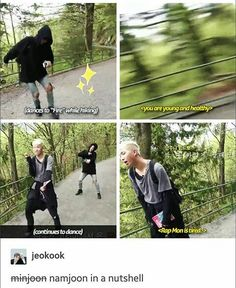 how can he dance that while hiking??